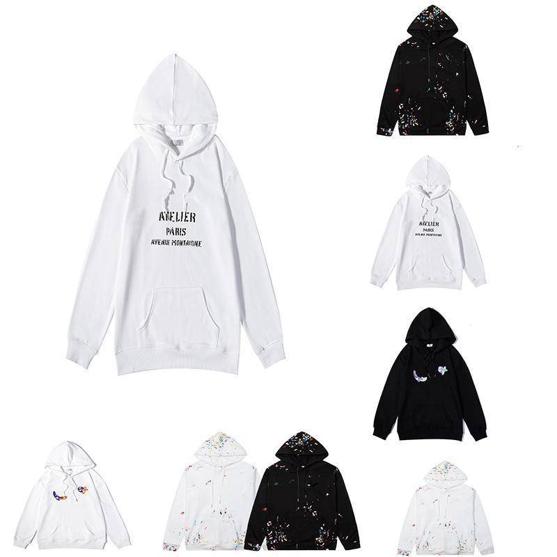 Brand Designer Hoodie с длинным рукавом толстовки толстовки с капюшоном пуловер писем шаблон печатанный мода многоцветный высококачественный чистый хлопок комфортно