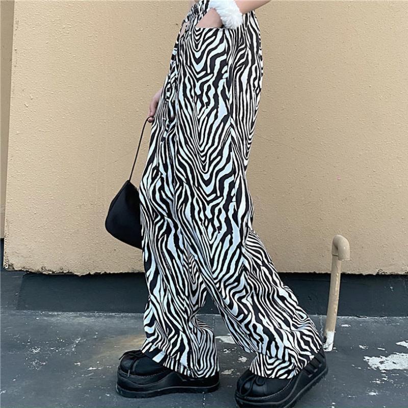 Harajuku taille haute femme pantalons streetwear dropship ins