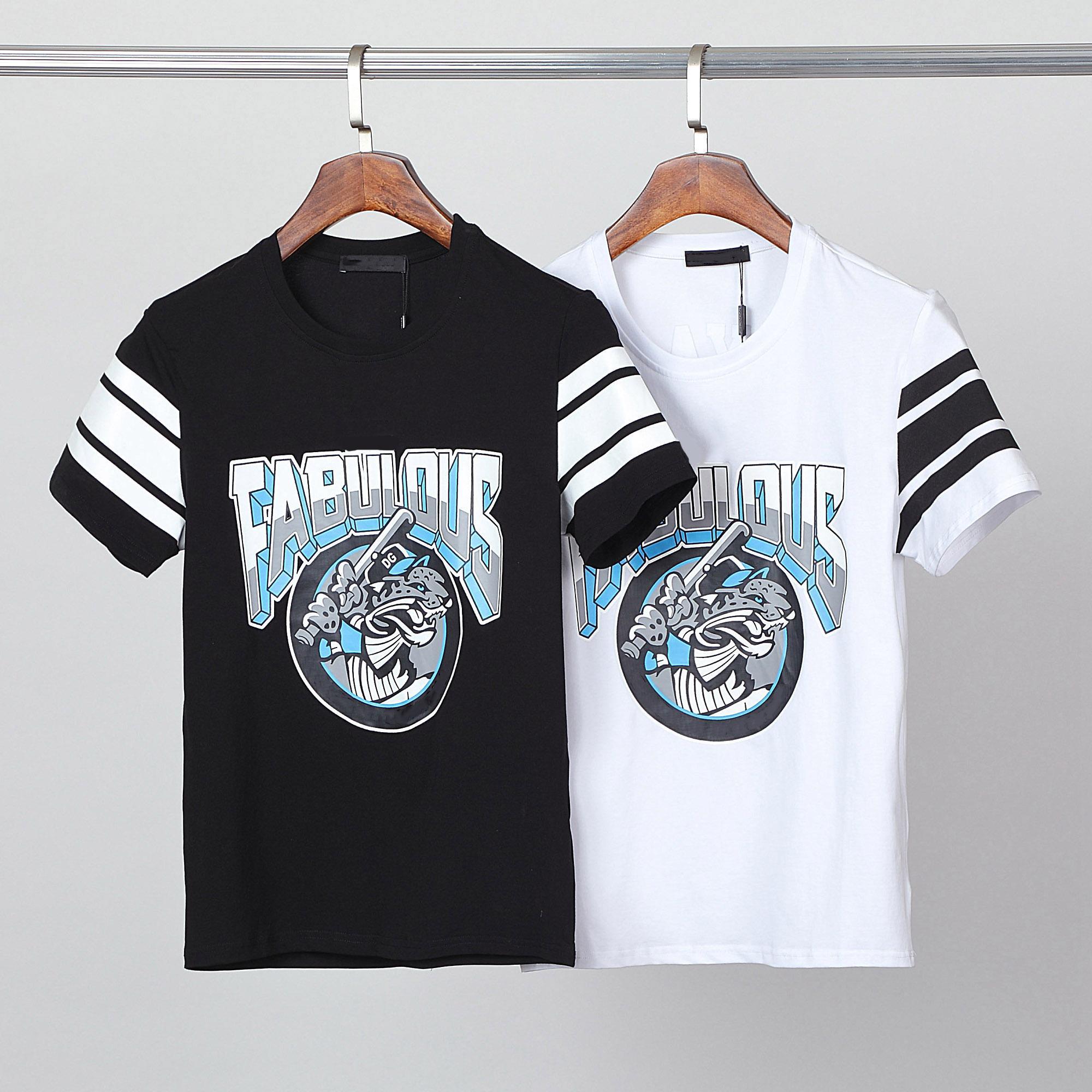 클래식 크라운 킹 스타일리스트 남자 티셔츠 # 008 유럽 밀라노 패션 여름 짧은 소매 럭셔리 로얄 스트리트웨어 탑 디자이너 남성 캐주얼 티셔츠