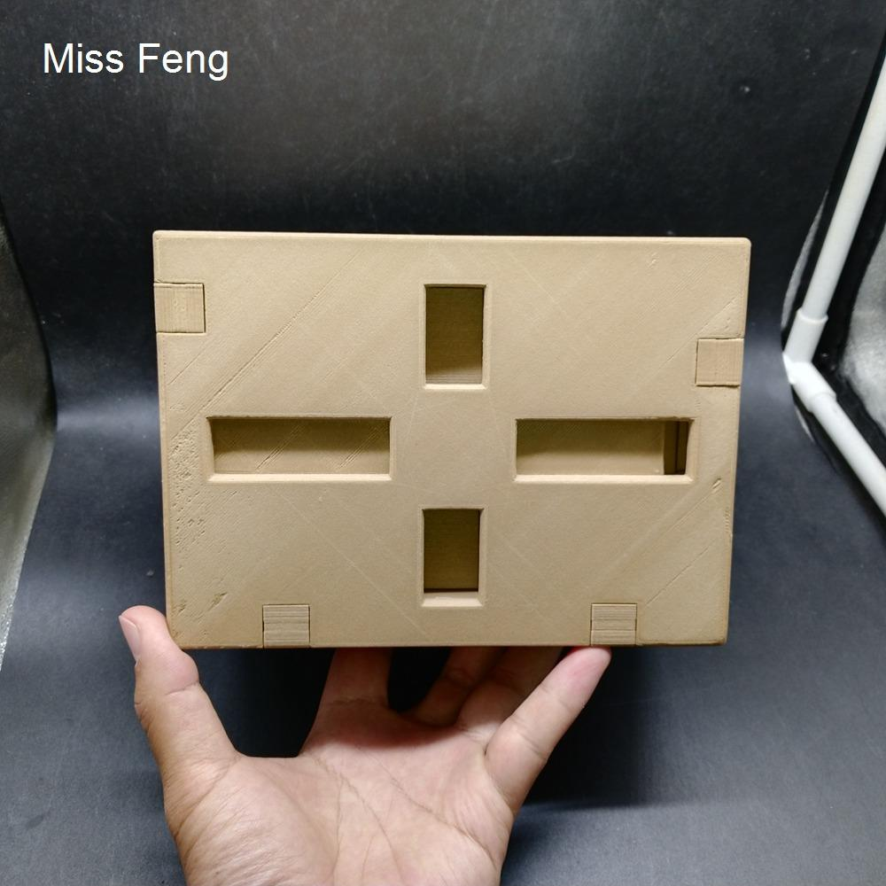 SHW044 / 18 * 13 * 13 cm Caja de rompecabezas secreta modelo CROSS CROSS JUEGO COBRE TEJA DE REGALO DE REGALO PLA MATERIAL