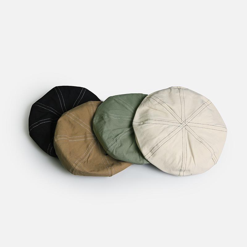 Bereler 2021 Giyen Stil Erkek Şapkalar Britanya Batı Ivy Cap Klasik Kadın Vintage Pamuk ve Keten Bere