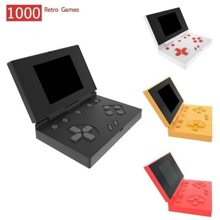 RS-96 Retro Handheld Game Consoles Can Store 1000 Games Portable Mini Flip Game Box 3.0 Inch LCD Color TV Video Game Player FC NES Rk 96