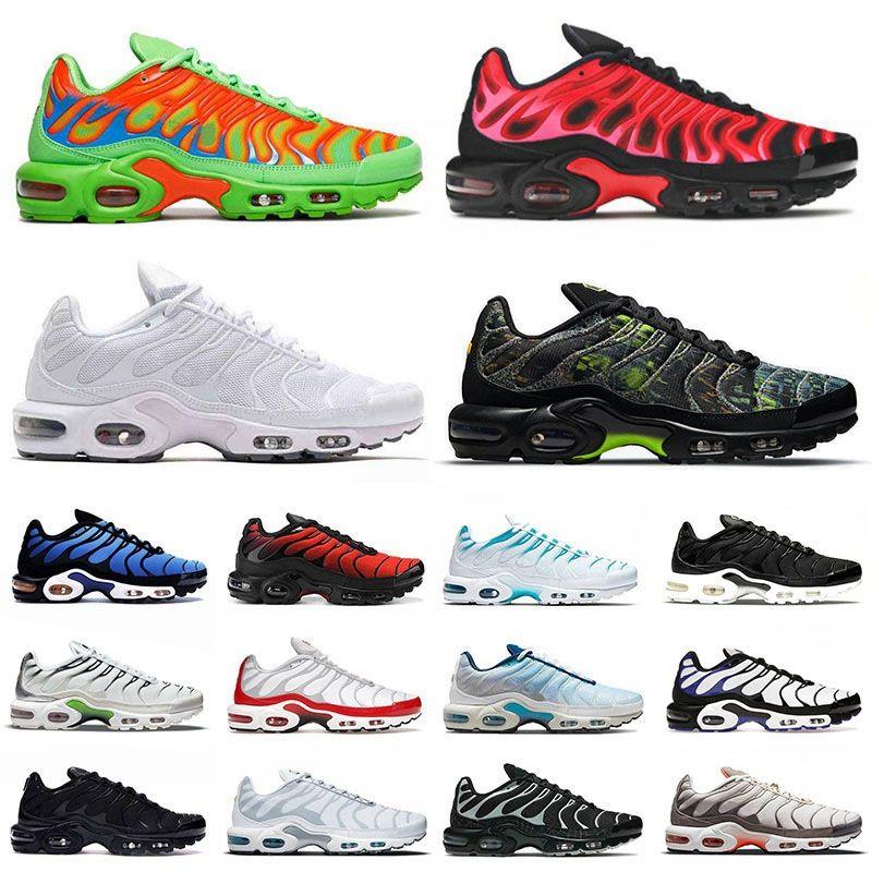 max plus tn airmax tns SIZE US 12 des chaussures de course hommes femmes dans le monde entier tn plus se triple noir tout blanc formateurs baskets en plein 36-46 EUR