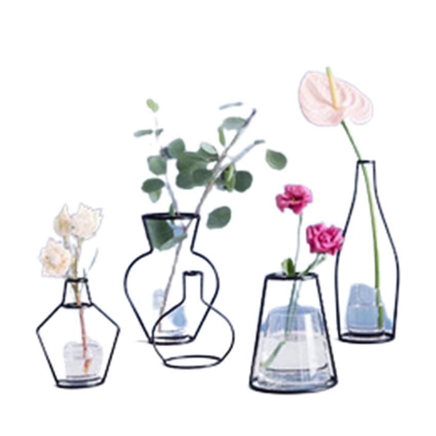 Criativo diy vaso festa casa decoração preta planta pote suporte de suporte de ferro de ferro vasos A17