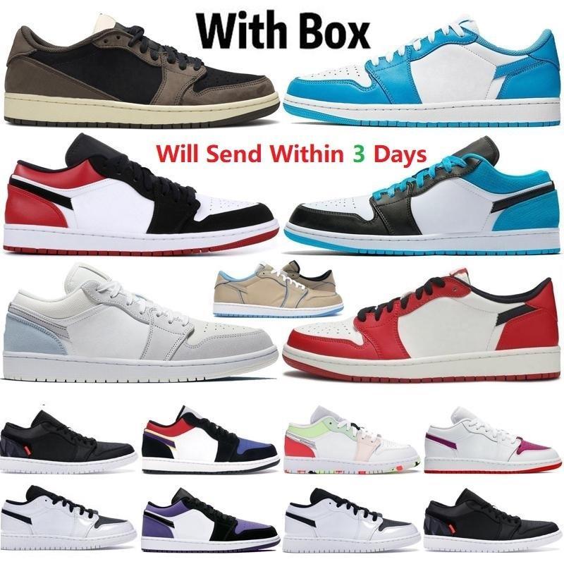 1 Zapatos de OG bajo 1S Mid Chicago Royal Toe Black Metallic Gold Pine Green Unc Patent Men Mujer zapatillas de deporte Entrenadores