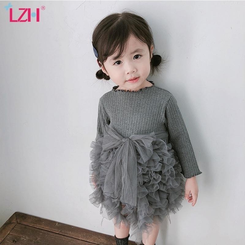 Christmas Dress For Baby Girls Autumn Winter Long Sleeve Knitting Tutu Princess Dress Newborn Infant 1 Year Birthday Party Dress 210317