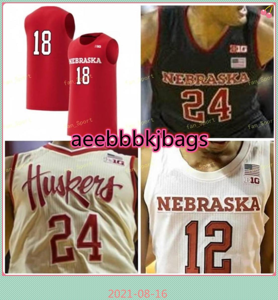NCAA College Nebraska Cornhuskers Cornhuskers Jersey 34 Thorir Thorbjarnarson 45 Brady Heiman 42 Dave Hoppen 22 Stu Lantz 10 Tyronn Lue Costume Costume