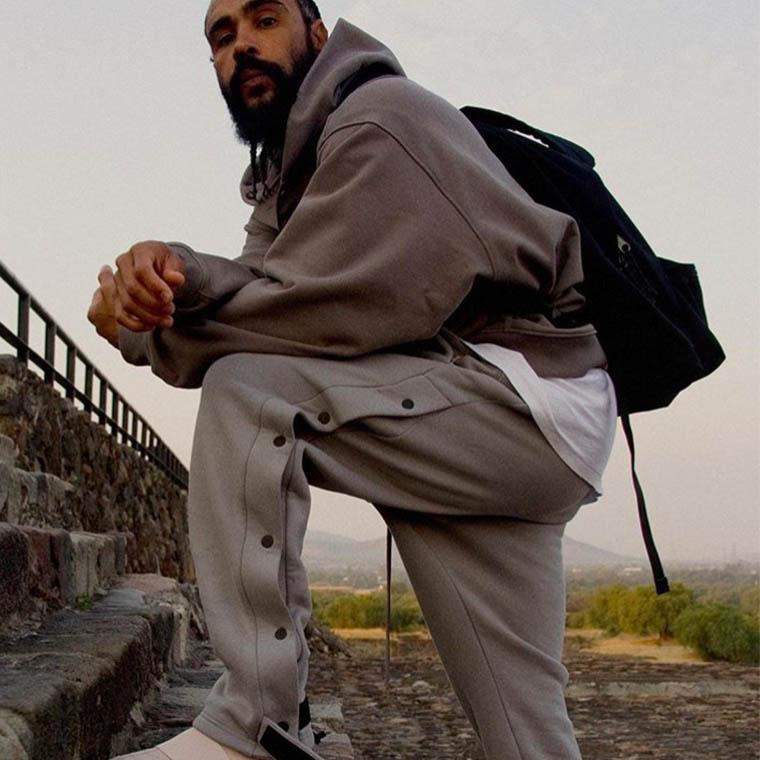 20FW Erkek Joggers Moda Çizim Tek Göğüslü Sweatpants Erkek Hiphop Yeni Pantolon Açık 2021 Bahar YENI Yüksek Kalite ile Yeni Trackpants