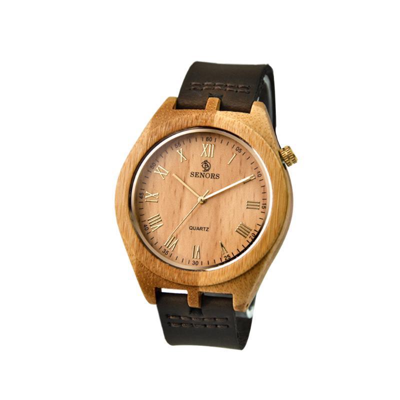 Наручные часы Мода Большое Лицо 47 мм Деревянные Мужские Кварцевые Часы Для Женщин Кожаные Ремешки Гутки Водонепроницаемая Простая древесина Наручные Часы Любителей Подарок
