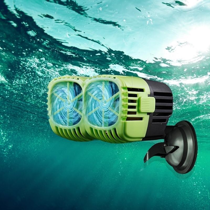 Pompe de fabricant d'ondes Aquarium Simple Double tête, 360dergee Direction réglable Pompe à ondes d'eau douce pour l'eau de mer pour la pompe de surf réservoir de poisson Y200917