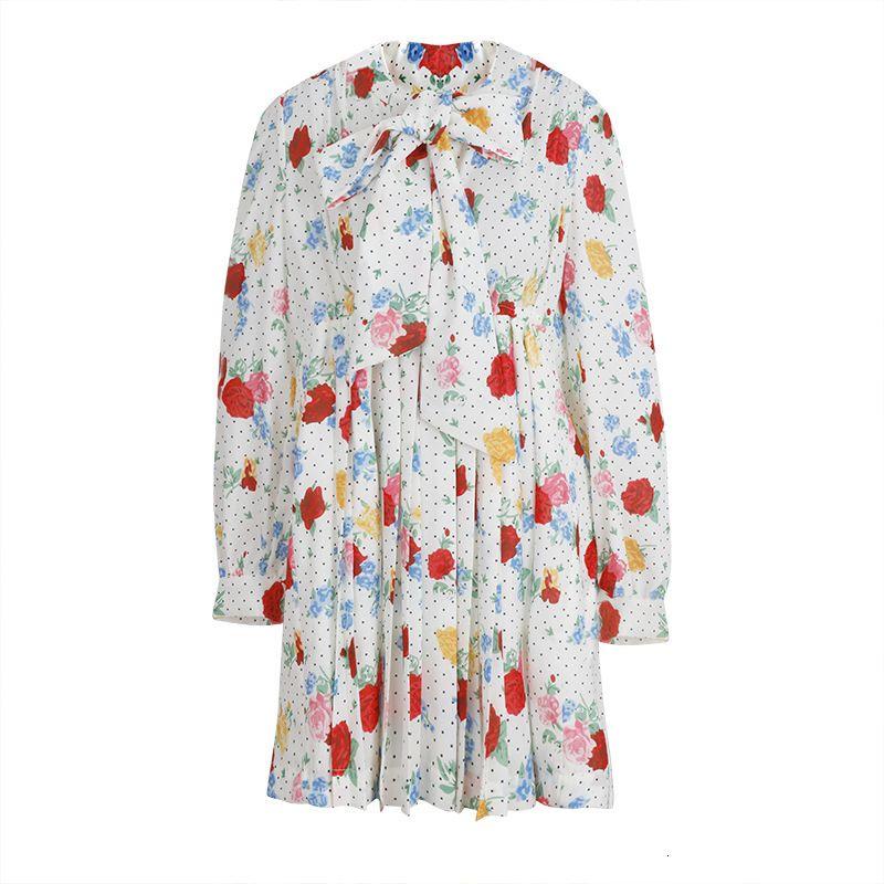 2021 NUEVO XIANGYUN - Serie personalizada, primavera y verano de las mujeres, cuello redondo, manga larga, flojo, moda, hilo de lino, impresión de cintura CFM5