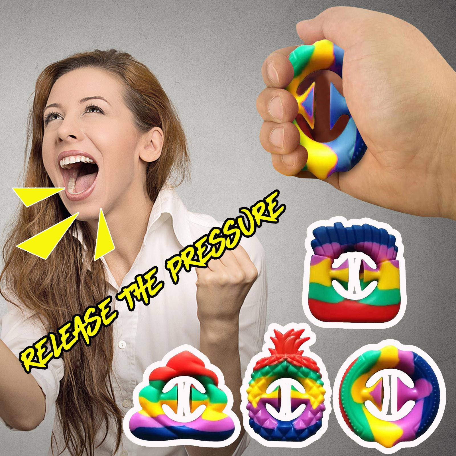 Sensorisk silikon handgrepp leksak snappers fidget leksaker fidget sensory grepp ring dhl leverans