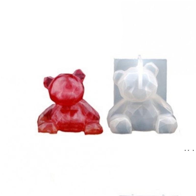 Vari stampi in cristallo orso epossidico resina epossidica vari orso tridimensionale stampi in silicone geometrica donna stampo uomo muffa BWA4005