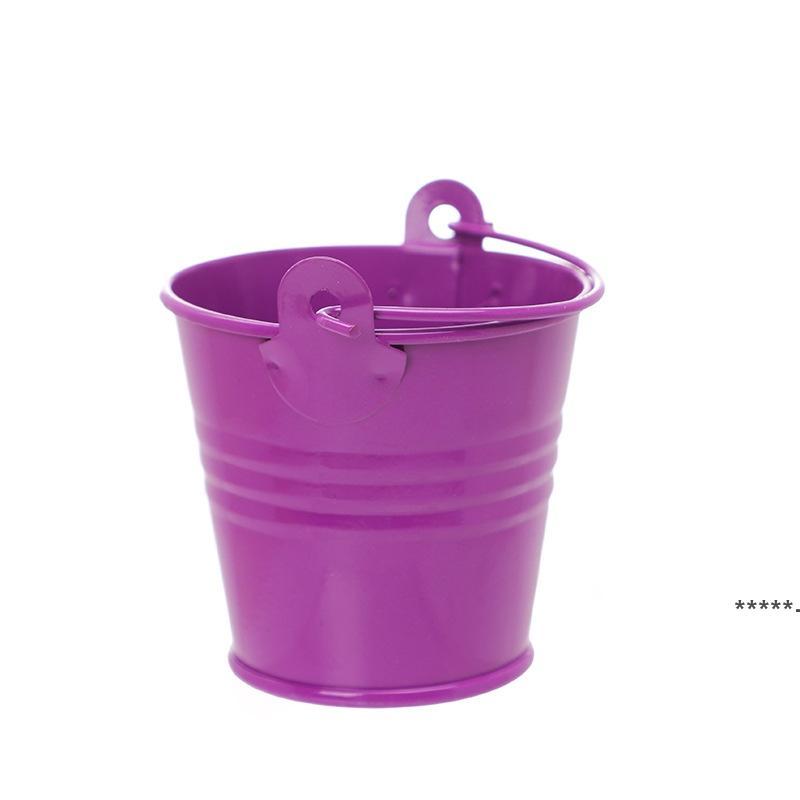 حفل زفاف بوعاء النباتات مصغرة صغيرة متنوعة القصدير الدلاء الدلاء يمكن اختيار اللون HHD8728