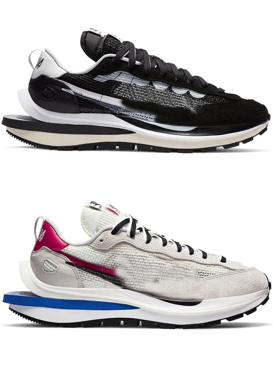 2021 YAYIN SACAI X VAPORLU LDWAFFLE LDV Siyah Beyaz Yeşil Mavi Kırmızı Erkekler Kadınlar Açık Ayakkabı Spor Sneakers Orijinal Kutusu ile