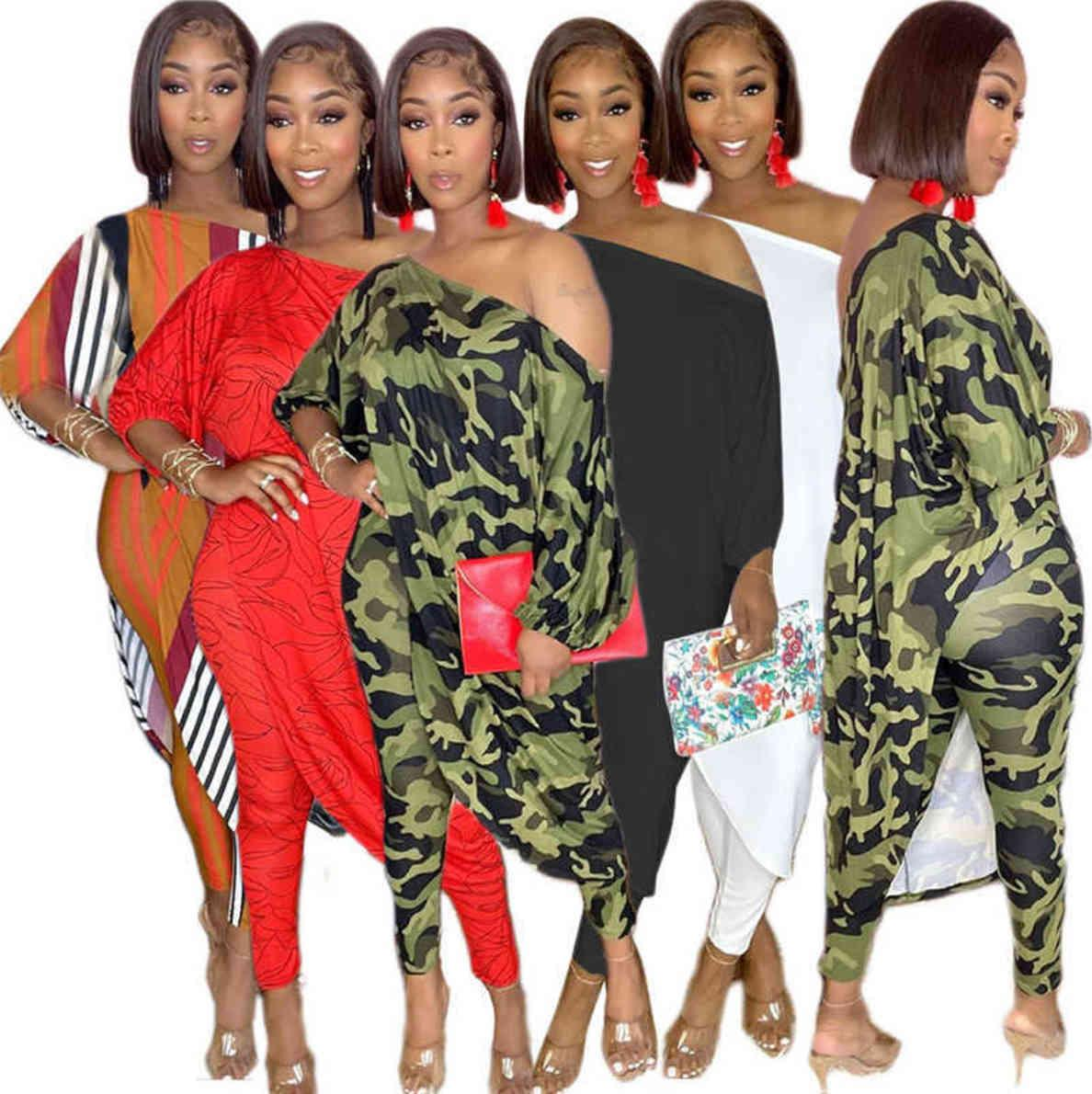 Women sportswear two piece set tracksuits plus size outfits long sleeve top trousers sweatsuit pullover tights legging suits S-4XL