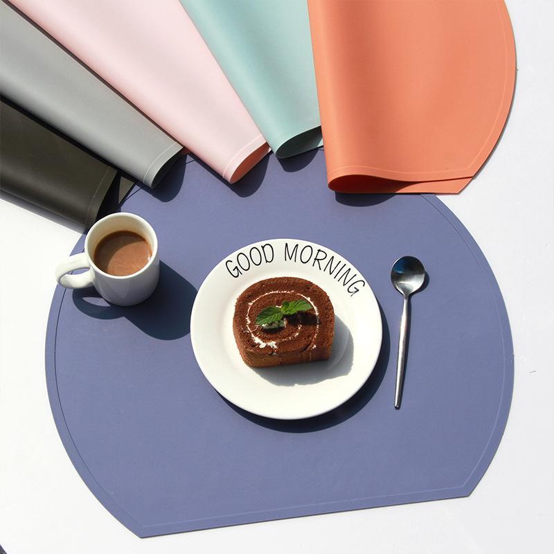 Tapis de tapis placements respectueux de l'environnement Placements de silicone de silicone Morandi Colorheat Table de style Nordic Table de style domestique