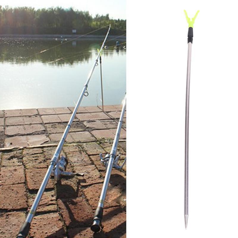 Suporte de pesca de rack de pólo de aço inoxidável 2 Seções Verstelbare ajustável V Suporte