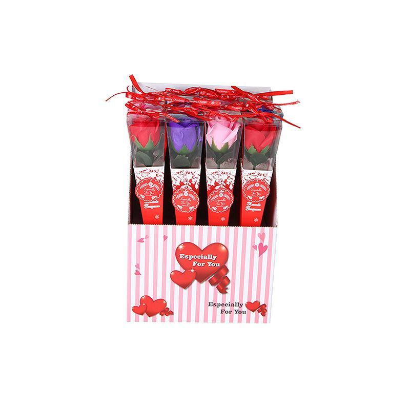 로맨틱 장식 꽃 선물 상자와 인공 장미 크리 에이 티브 발렌타인 데이 크리스마스 홈 장식