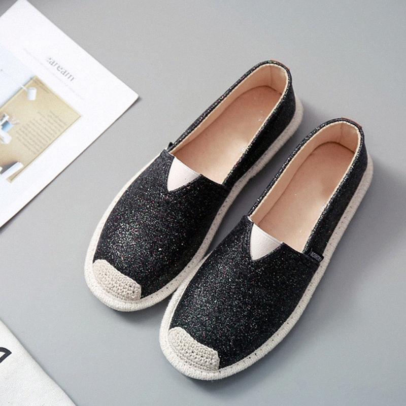 Kadın Bling Flats Loafer'lar Elastik Bant Rahat Bayanlar 2020 Bayan Sneakers Kadın Balıkçı Rahat Kadın Işık Ayakkabı Skechers Ayakkabı G4v8 #
