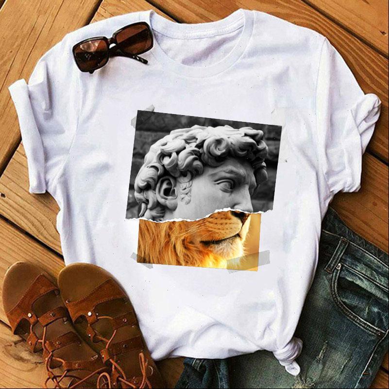 Frauen Tshirt Michelangelo T-shirt Ulzzang Femme Vintage Harajuku Tshirt 90er Jahre Ästhetische weibliche Grafik-T-Shirt T-Shirt T-Shirt-Hemd
