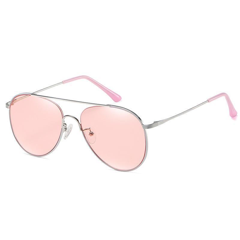 Солнцезащитные очки 2021 Нейлоновая линза Мода Пилотное Зеркало Металл Высокое Качество Мужчины Женщины Дизайнер Очки Классический UV400