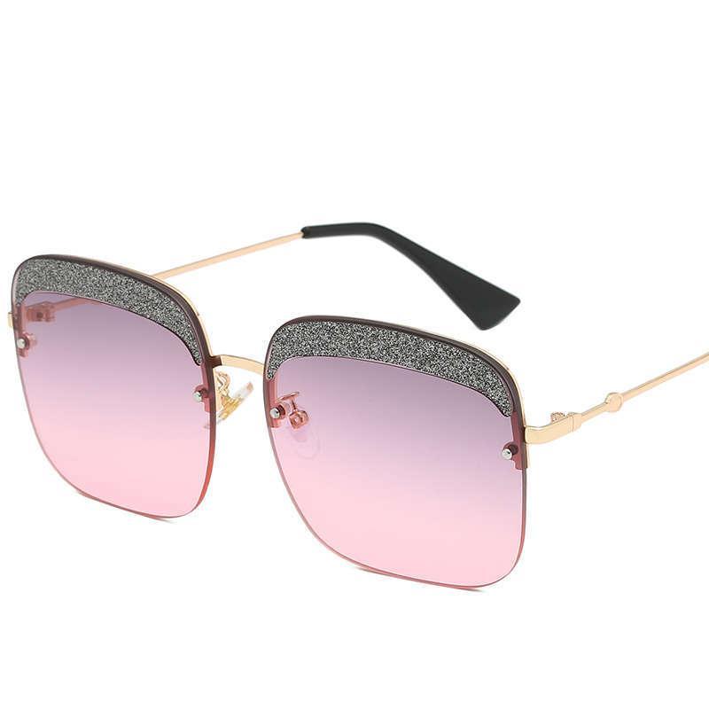 Новое высшее качество женского мужского бренда дизайнер металлические личности HD солнцезащитные очки с коробкой