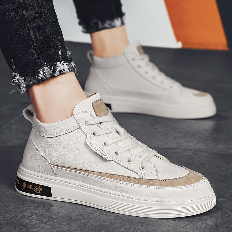 Fashion lace-up casual shoes walking shoes Tenis Feminino outdoor breathable sports shoes mens PU leather business casual