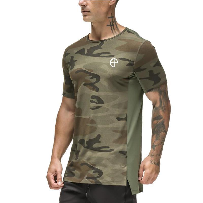 الرجال القمصان مثل الجيش الروسي اللياقة البدنية التمويه تي شيرت، كمال الاجسام الرياضة عارضة تنفس الأزياء طباعة تي شيرت
