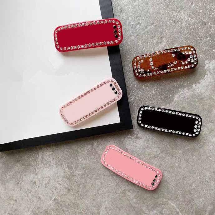 Neue Top Qualität Charme Schmuck Frauen Haarspange Bling Bling Buchstaben Haar Clip Frauen Mode Barrettes Geschenk für den neuen Stil