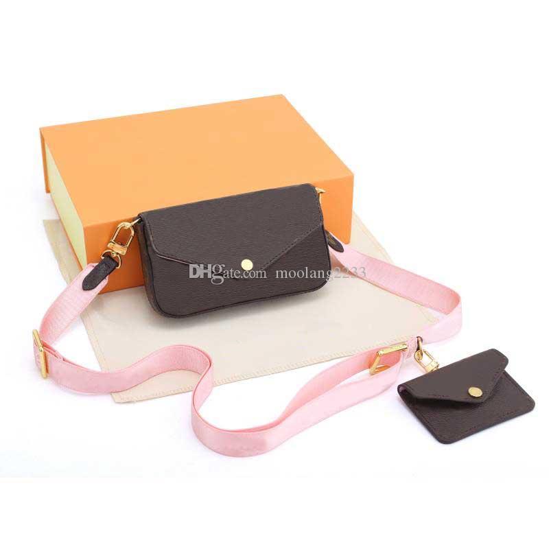 2021 المرأة الجديدة حقائب أعلى جودة حقائب الكتف الأزياء متعددة pochette حقيبة crossbody سوهو أكياس المحافظ أكياس مع مربع البرتقال