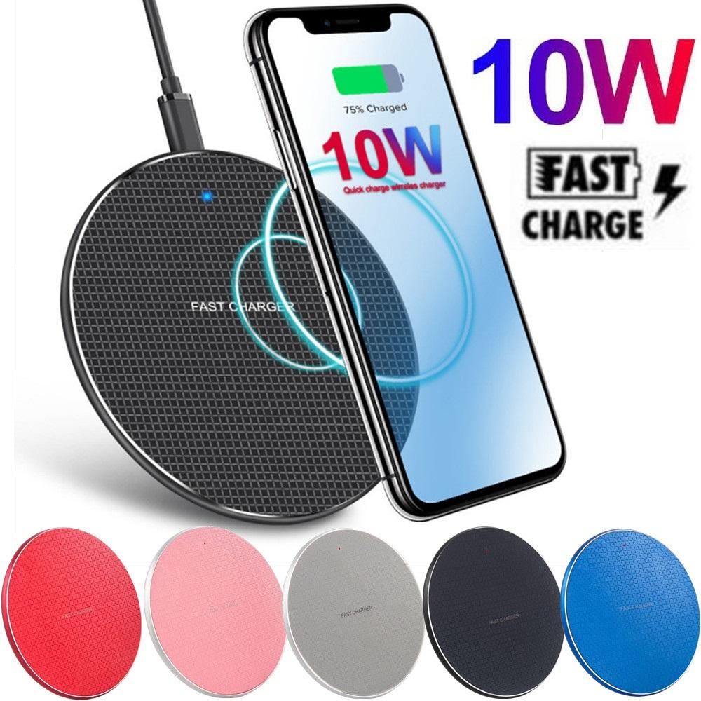 10W Fast Wireless Chargers Colorful Dest Phone Charger Pad For Iphone 8 X XR 11 12 Samsung Htc with box