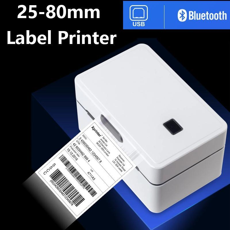 """Printers Thermal Label Barcode Printer Sticker Printing Machine Width 25-80mm 3"""" 208mm/s For Windows MAC And Phone"""