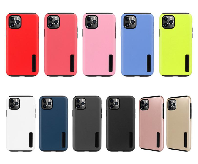 For iPhone 12 11 Pro Max XR Hybrid Matte Case Armor Metal Cover xs MAX 6 7 8 Plus samsung note 20 ultra S21 S20 Plus S10