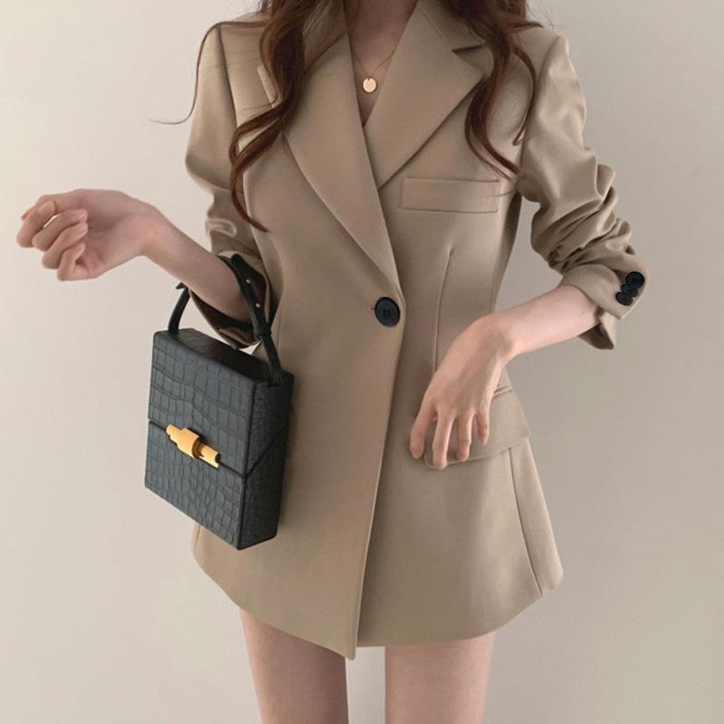 Abrigo de traje, tapa retro coreana delgada de verano, pequeño con ropa de mujer.