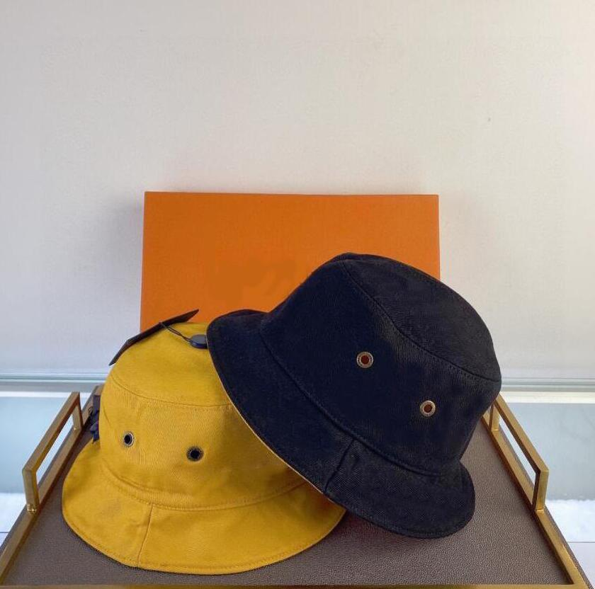صيف رجل مصمم قبعات مع خطابات للجنسين مزدوجة ارتداء شاطئ القبعات تنفس مزودة أربع موسم الرجال النساء ستيسين بريم قبعة 4 أنماط الخيار