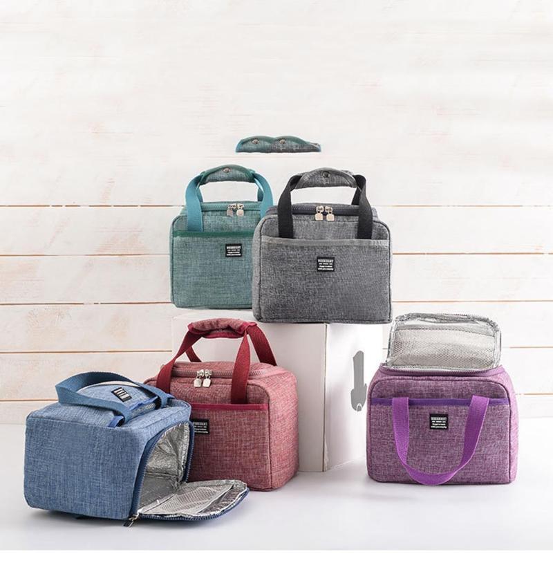 Scatola per il pranzo isolante Soft Cooler Bag Impermeabile Scuola di lavoro termica Picnic Bento Tote Storage and Organization Bag