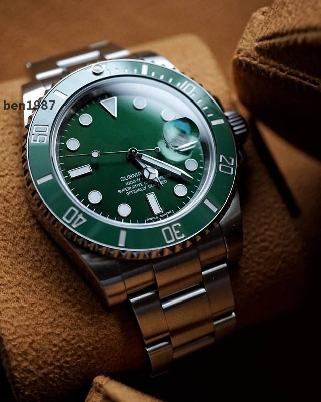 N Produce orologi da uomo 116610 orologio automatico 2836 orologi movimento orologi V8 uomini orologi 904L Unità / completa / verde / nero / blu CSH