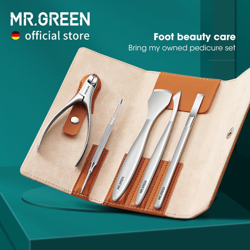 Mr.Green Pedikür Bıçak Seti Profesyonel Ingrown Toenail Ayak Bakım Araçları Paslanmaz Çelik Tırnak Pense Clipper Remover Kiti 210304