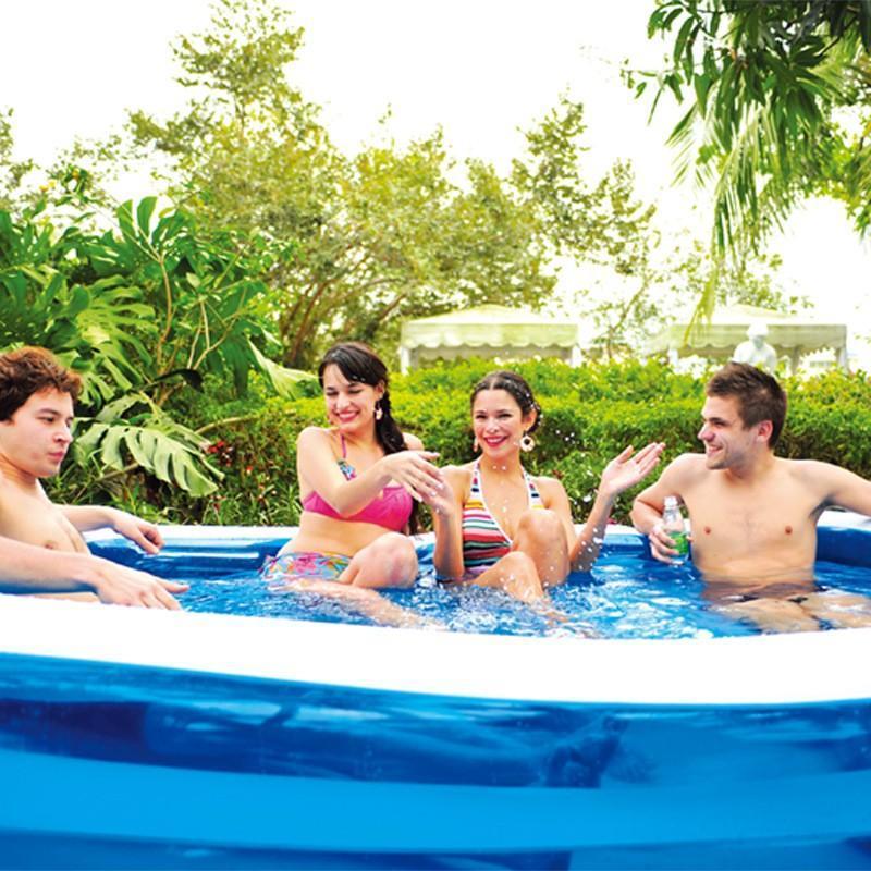 Poolzubehör Kinder Schwimmen 120 cm 2 / 3layer aufblasbare quadratische Badewanne Baby Kind Home Outdoor groß