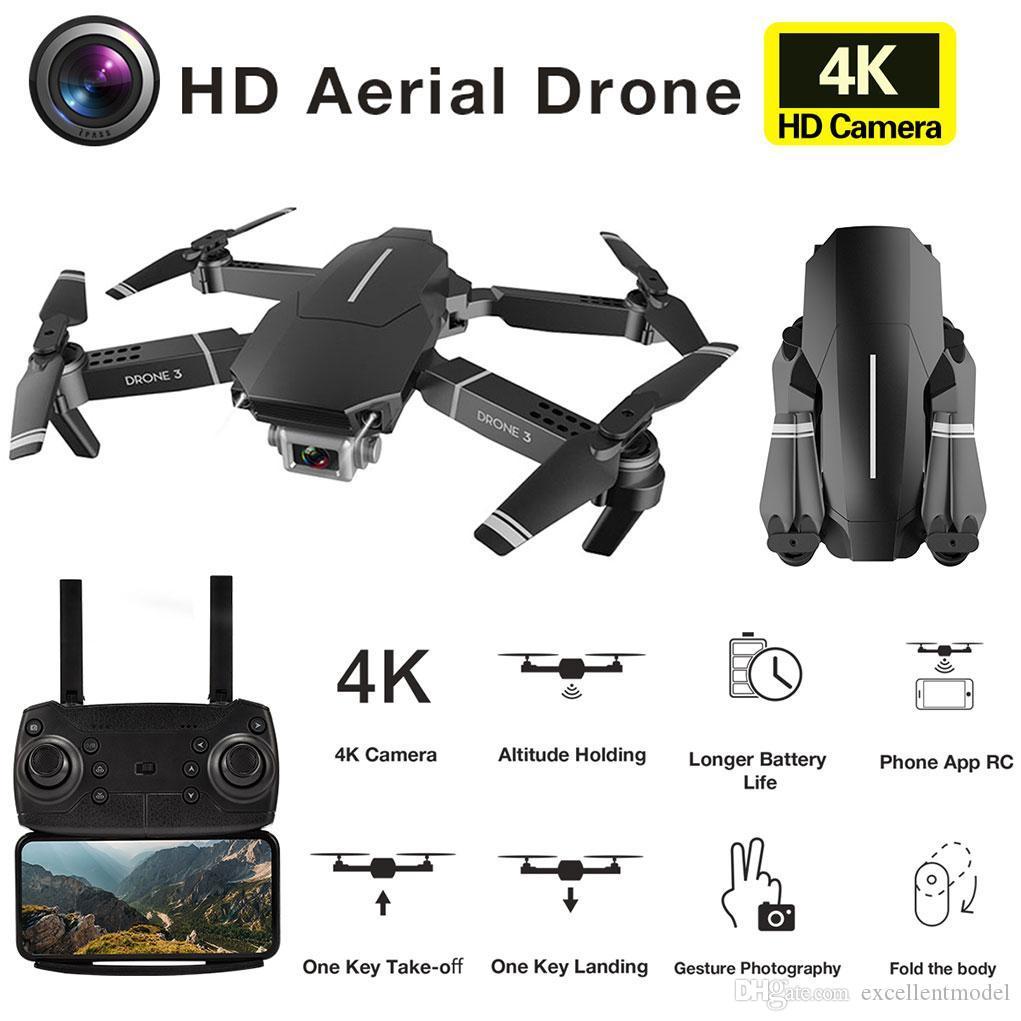 E98 4K HD-Kamera Wifi FPV-Mini-Drohspielzeug, E68-Upgrade-Version, Track-Flug, einstellbare Geschwindigkeit, Geste Foto-Quadkopter, für Kind-Geschenk, verwenden Sie