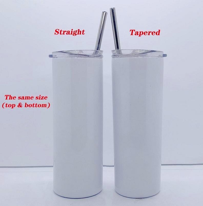 20Oz-Sublimationsrohlings-Tumbler gerade Edelstahl dünnes Tumbler-Doppel-Wand-Vakuum-isoliertes Reise-Becher Großhandel in der Masse