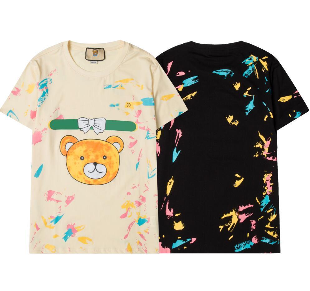 Trendy Herren Designer Tshirts Mode Buchstaben Drucken T-Shirt für Männer Frauen T-Shirts Hemden mit schönen Bären Sommer Casual Tops S-2XL