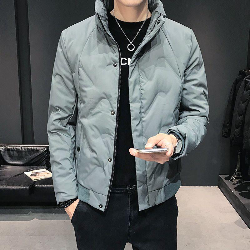 Men's Light e Fino Coreano Cool Inverno Espessamento Quente Casual Casual Casaco Moda Marca