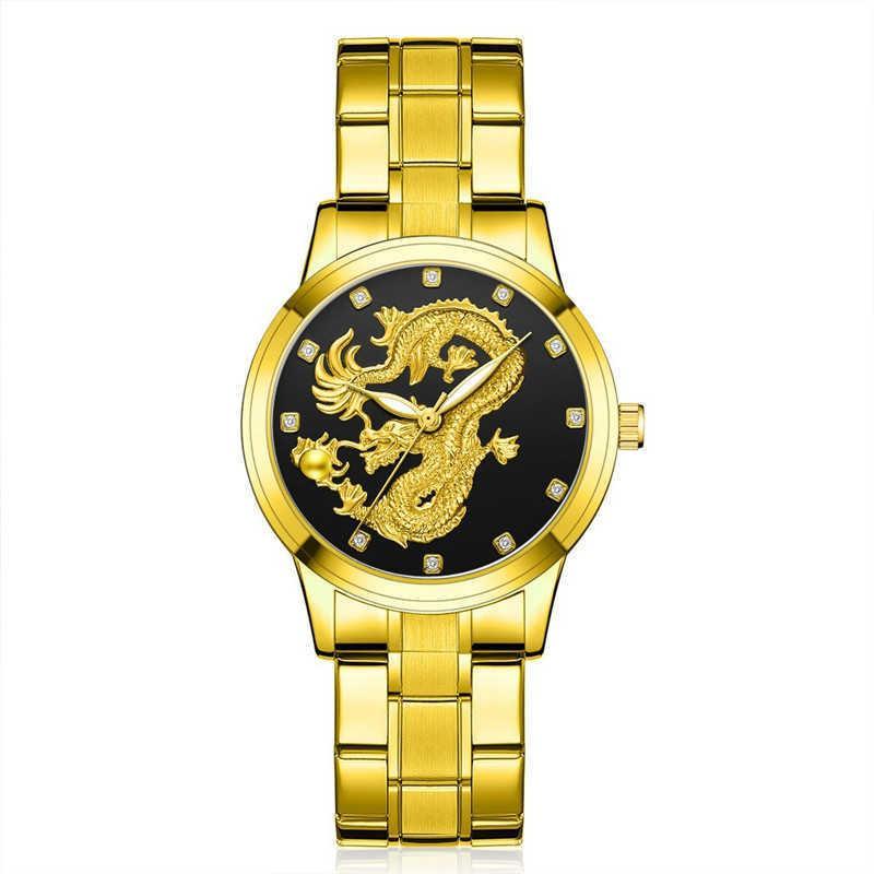 Mode Uhr Männer Drache Quarz Armbanduhren Herrenuhr Uhr Herren Uhren Top Marke Luxus Casual Kleid Relogio Masculino 210603