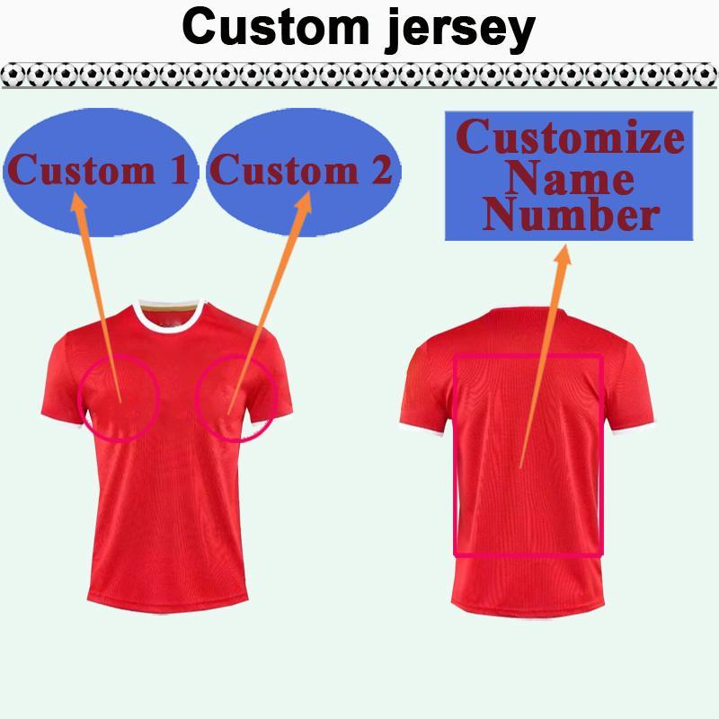 Custom National Team Club Mens Soccer Jersey Top Vous pouvez personnaliser les chemises de football de design Nom et numéro tels que 45 Fuzhou
