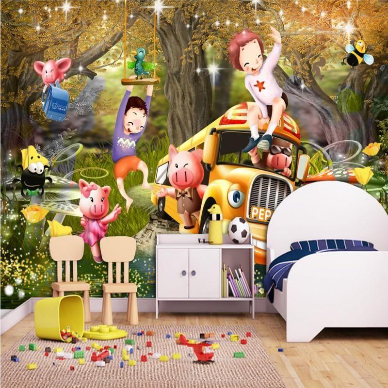 Wallpapers Dropship Custom Po Wallpaper Cartoon Beautiful Kid Room Children House Mural Studio Lobby Living
