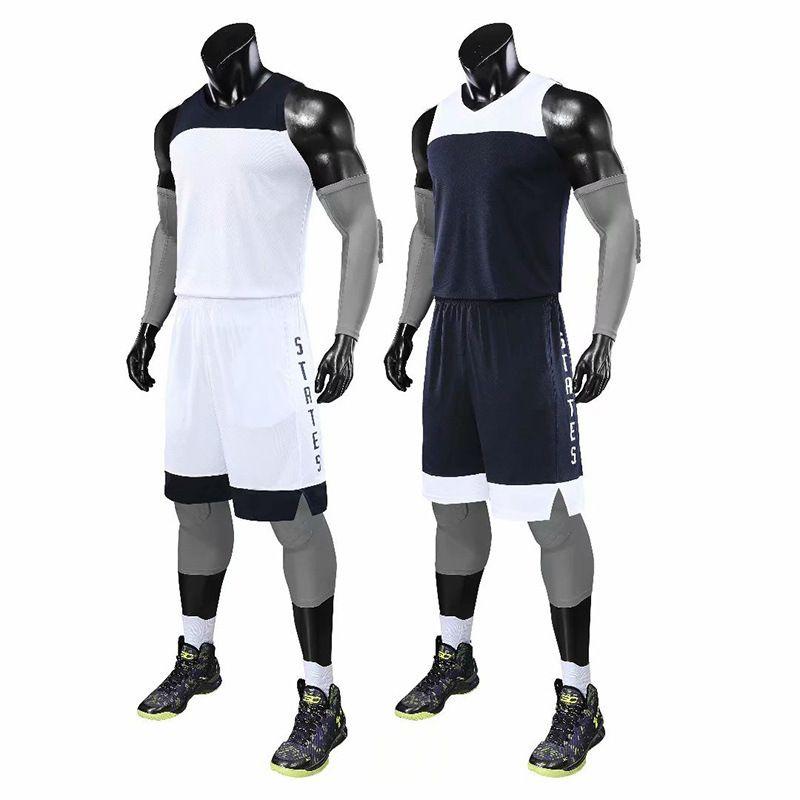 Жилет мужской и женский простой спортивный напечатан баскетбольный костюм