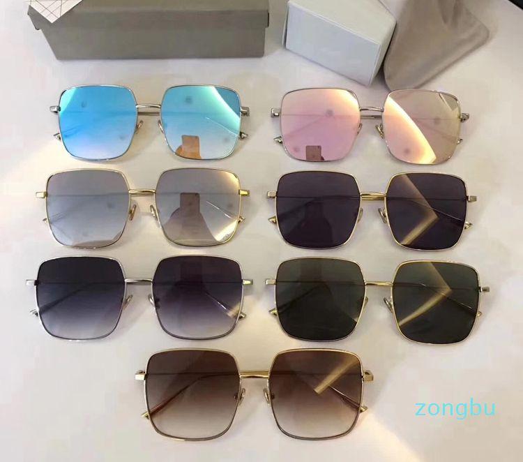 Nova Moda Óculos de Sol Luxuoso Square Stellaire Sunglasses Unisex Moda Homens Mulheres Marca Designer Sunglasses Proteção UV Eyewear com caixa