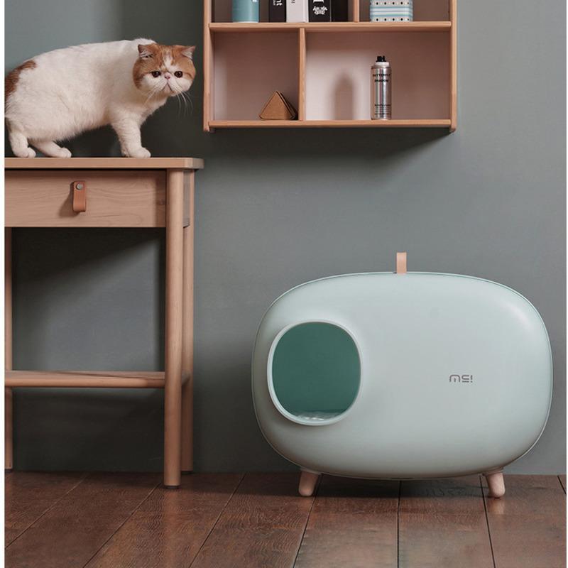 Diğer Kedi Malzemeleri Pet Çöp Kutusu Tamamen Kapalı Bentonit Dıştanlığı Tuvalet Deodorant
